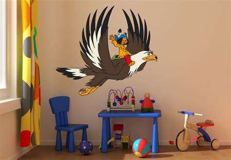 Wandtattoo Kinderzimmer Yakari by Wandtattoo Yakari Und Gro 223 Er Adler Bunt Ebay