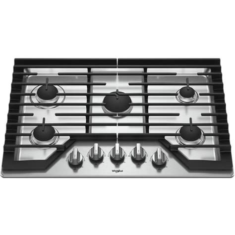 whirlpool gas cooktop 30 whirlpool 30 quot gas cooktop silver wcg77us0hs best buy