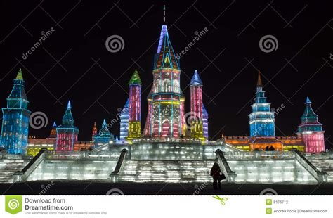 ice city harbin ice city stock photo image of chinese festival