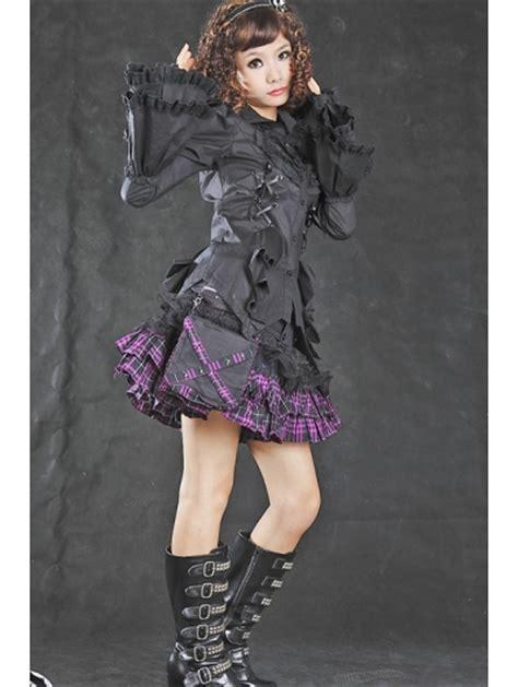 Bloomings Jumbo Ribbon Hitam Blouse black tuxedo style blouse for devilnight co uk