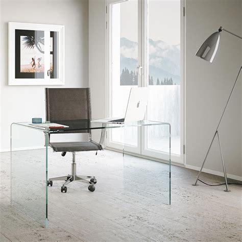 scrivanie vetro ufficio scrivania in vetro curvato glassy casaarredostudio it