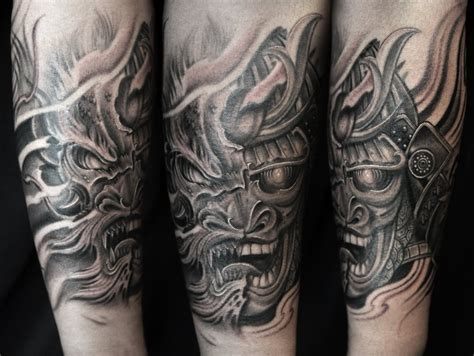black and grey forearm tattoo designs 27 samurai forearm tattoos designs ideas
