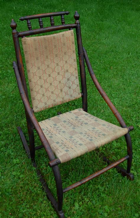 antique wooden upholstered rocking chair collectors weekly