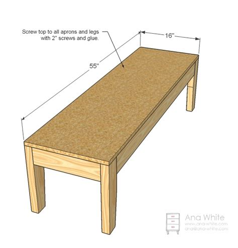 simple bench plans ana white build a easiest upholstered bench free and easy diy simple bench plans
