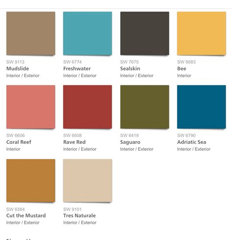 2017 color palette 2017 paint color forecasts and trends