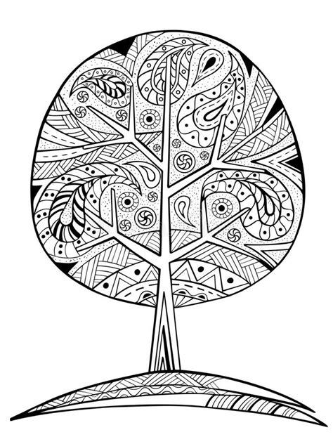 Albero Disegnato A Mano Dello Zentangle Per Il Libro Da