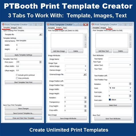 photo booth layout maker online print template creator in ptbooth a1 plus photo booth software