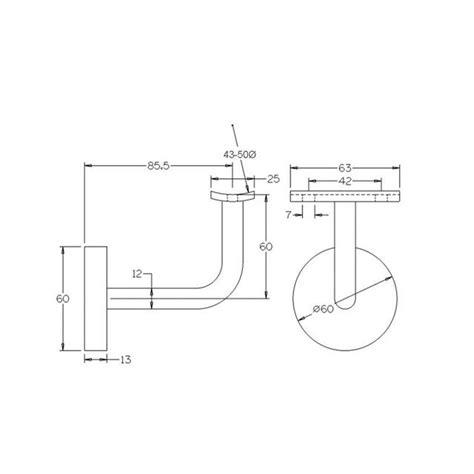Handrail Distance From Wall handrail brackets stainless steel wall rail support bracket if456xsss