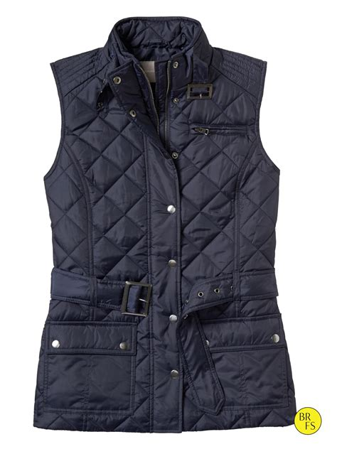 Quilted Puffer Vest by Banana Republic Factory Quilted Puffer Vest In Blue True