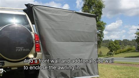 stand easy awning stand easy awning side wall demonstration by supa peg