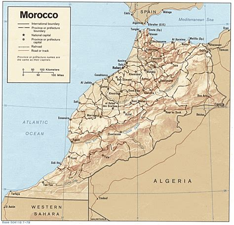 africa map morocco morocco
