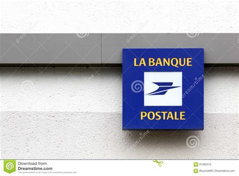 la poste bank banque postale logo on a wall editorial image image