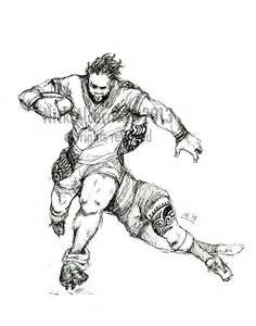 how to draw rugby