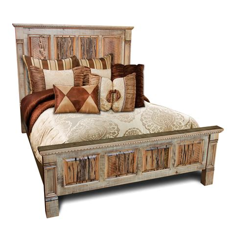 rustic bed rustic empire bed w barnwood pecky panels rod 1