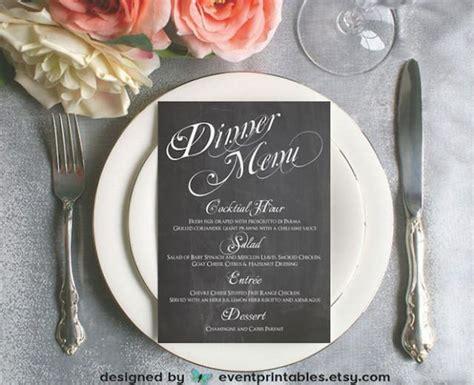 printable menu card wedding reception dinner menu black printable chalkboard dinner menu card diy wedding
