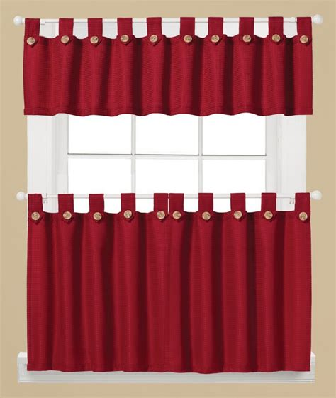 red kitchen curtain red kitchen curtains laurensthoughts com