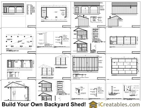 run  shed plans  tack room  cantilever