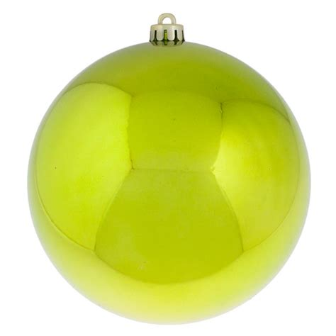 lime green baubles shiny shatterproof single 200mm