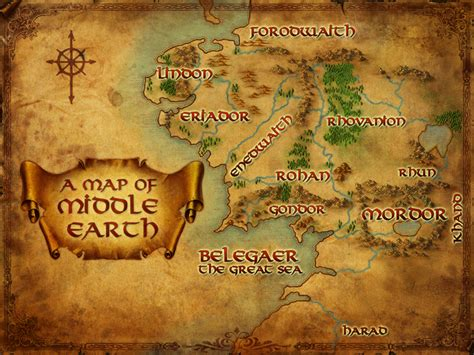 lord of the rings map middle earth map a pilgrim in narnia
