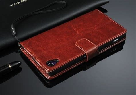 Cover Sony Xperia Z3 5 2 Inch Wallet Canvas Diary Leathercase top 5 cases for the sony xperia z3