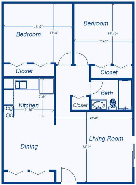 how big is 900 square feet floor plans