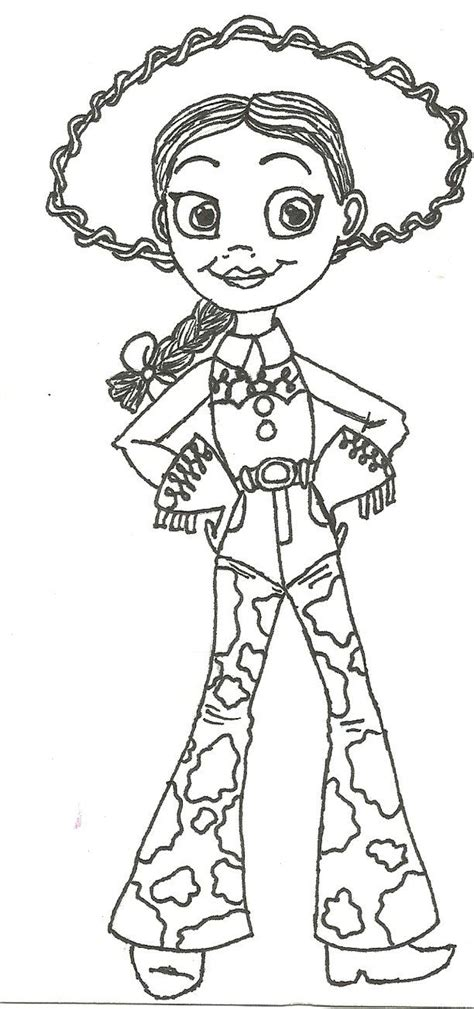 jessie from toy story coloring pages coloring home