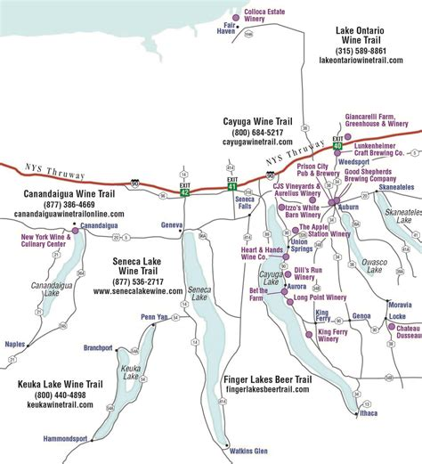 finger lakes ny map finger lakes wine tour packages cayuga county lake