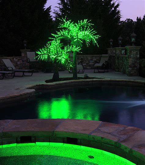 Outdoor Light Up Palm Tree Lighted Artificial Palm Trees Yard Envy