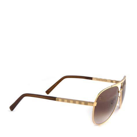 Glasses Louis Vuitton 1336 louis vuitton attitude pilote sunglasses z0339u gold labelcentric