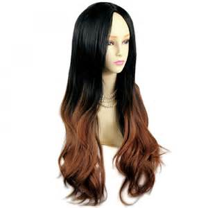 ombre hair extensions uk wiwigs amazing style black brown wavy wigs dip dye ombre hair wiwigs uk