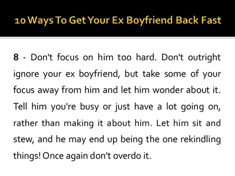 10 Ways To Deal With Your Ex Issues by 10 Ways To Get Your Ex Boyfriend Back Fast