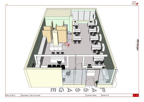 architect office plan layout plan a at meera 3d pmt designs blog