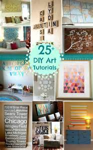 remodelaholic 25 diy art tutorials