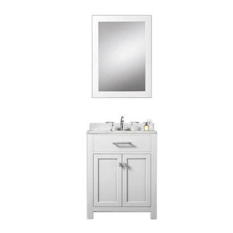 24 inch single sink bathroom vanity in white