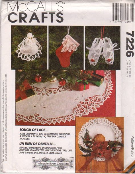 sewing patterns christmas crafts mccall s sewing pattern 7226 christmas crafts touch of