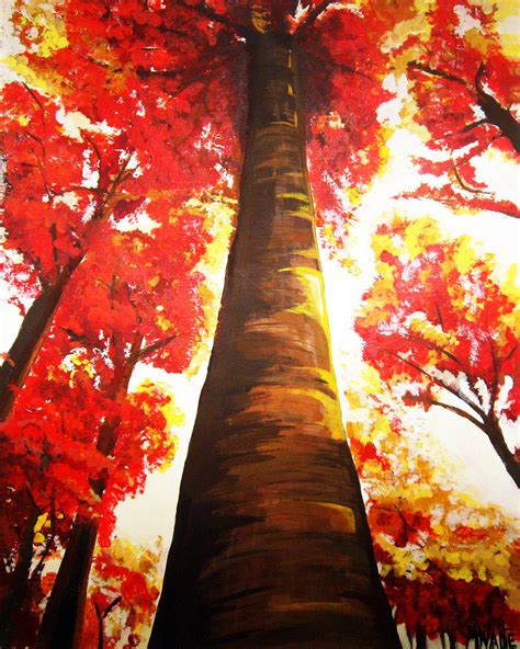 acrylic painting ideas fall fall morning light wadecreate