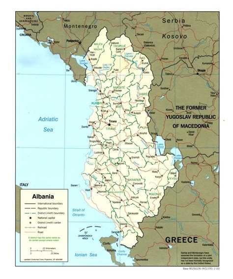 albania political map detailed administrative and political map of albania