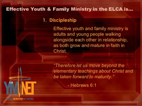 hebrews 6 1 3 leave these elementary teachings network definition of youth and family ministry