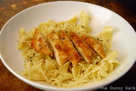 copycat noodles company parmesan chicken and buttered noodles the gunny sack