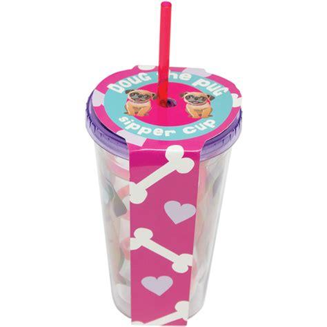 pug kopen pug straw cup multi 16oz gifts zavvi nl