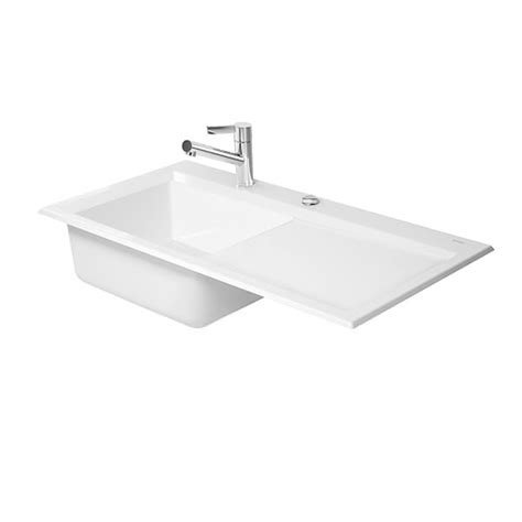 duravit kiora 50 flush mount kitchen sink 7517900027
