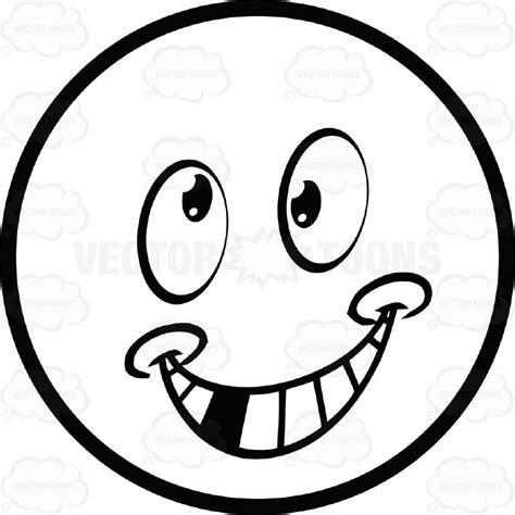 Smile White smile large eyed black and white smiley