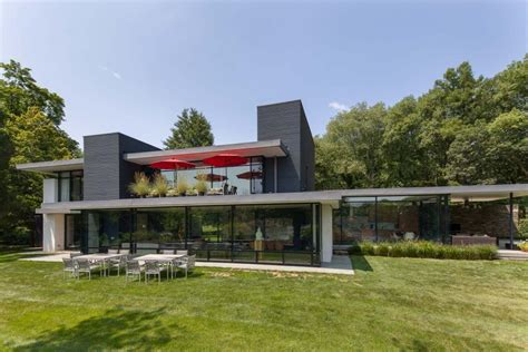 modern lake house tour a midcentury modern lake house in bedford n y