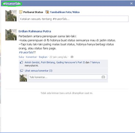 membuat artikel di facebook cara membuat hashtag di facebook diandiki blogspot