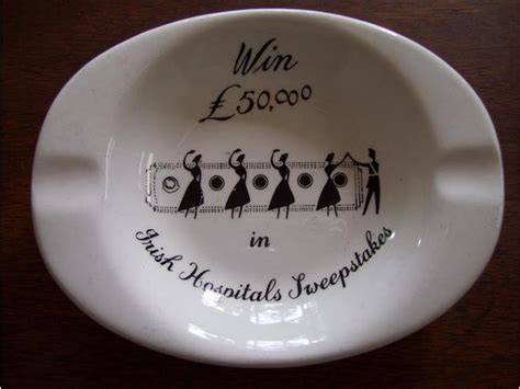 Irish Hospitals Sweepstakes - vintage 1960s irish hospitals sweepstakes ashtray esquimalt view royal victoria