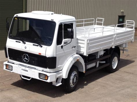 mercedes truck 4x4 mercedes 1017 4x4 drop side cargo truck ex mod direct sales