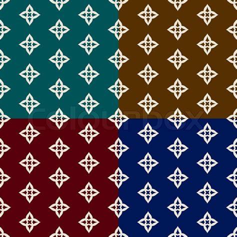 Muster Blau Rot Abstrakte Geometrische Hintergr 252 Nde Gesetzt Trendige Nahtlose Muster Blau Gr 252 N Rot Und