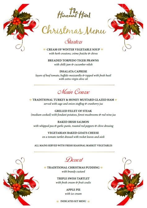 holiday dinner party menus home design inspirations
