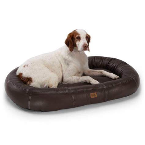 frontgate dog beds oval leather pet bed frontgate