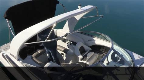 boat arch with bimini top crownline quot how to quot bimini top with arch canvas